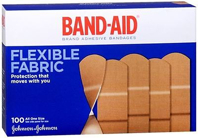 BAND-AID Flexible Fabric All One Size Adhesive Bandages 100 Each