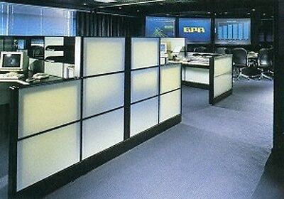 Herman Miller Ethospace 48wx 16h Wall White Glass Transluant Tile For Cubicles