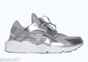 Nike Huarache Bianche E Argento