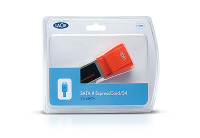 €24+IVA LaCie 130993 SATA II ExpressCard/34-54 2x eSATA - NEW SEALED Lacie Pc Desktops