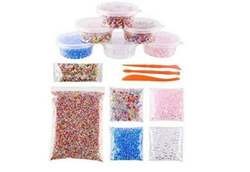 DECORA 15 Pcak Slime Making Kits Fishbowl Beads Foam Beads F