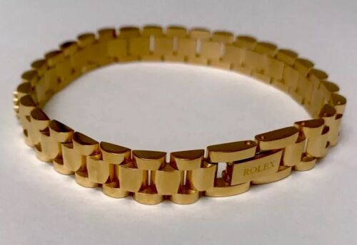 Rolex - Rolex Stainless Steal Gold Plated Unisex BRACELET 8.3 Inc.