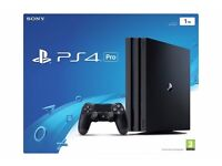 PS4 Pro 1TB console with COD:Infinite Warfare and UFC2. All brand new and sealed.