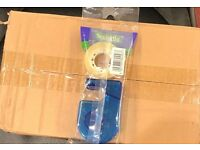 Easytear clear tape roll and dispenser full box of 24 packs