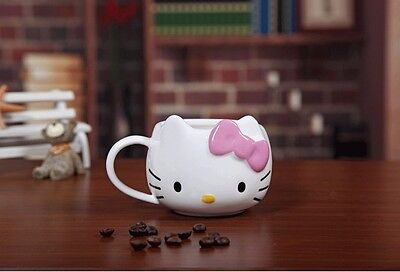 Cute Hello Kitty Ceramic Cup Tea Milk Coffee Mug Pink Bowknot Lovely Girl Gift](Hello Kitty Cups)