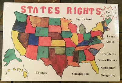 States Rights Board Game - Educational American History / Geography Trivia Game