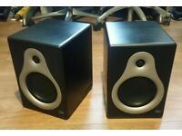 A Pair of M Audio DSM 1 studio monitoring speakers