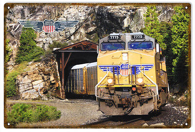 Union Pacific Railroad Sign With Tunnel