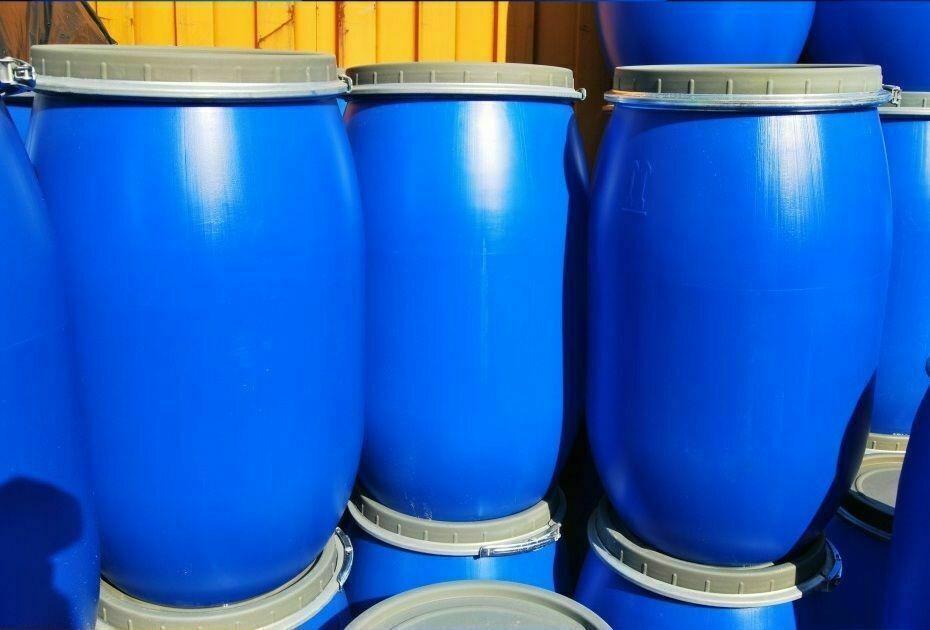 Fass Kunststofffass Lebensmittelfass Regenfass Deckelfass Wasserfass Tonne Blau