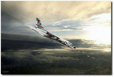 The Last Gunfighter by Peter Chilelli - Vought F-8 Crusader - Aviation Art (The Last Aviator)
