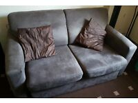 Sofa bed Brown suede Fabric comfy