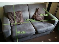 Sofa bed Brown suede Fabric comfy large 2/3 person