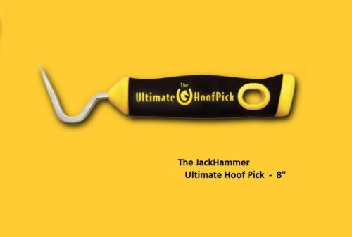 "The Jackhammer Ultimate Hoof Pick / HoofPick, yellow 8"" / equinimity / free ship"