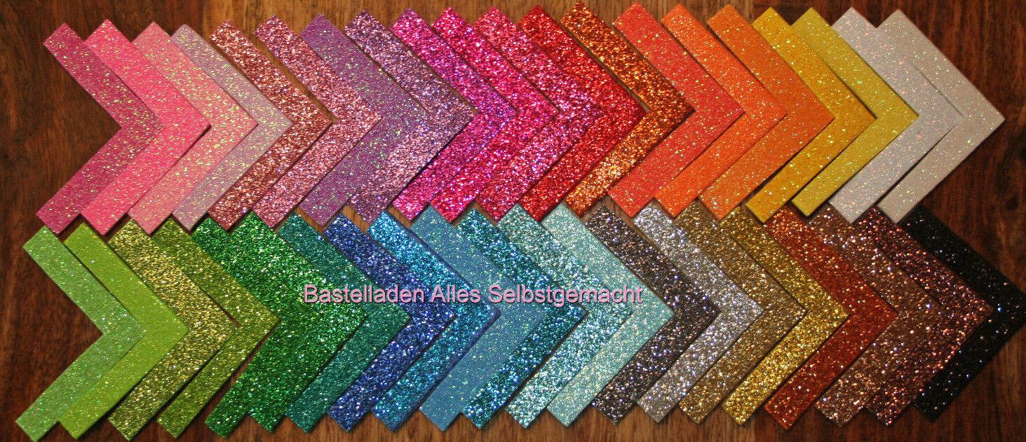 Glitzer Moosgummi irisierend Glitter 41 Farben 20x30 A4 nur 1x 1,65 € Versand