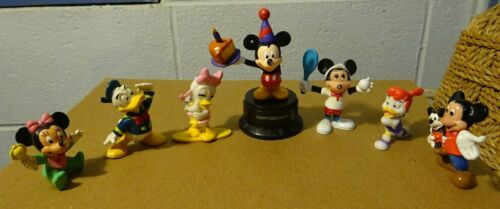 Vintage Disney cake toppers lot! 7 Various figures/toys Mickey Donald Duck Tales