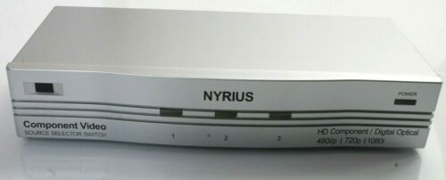 Nyrius Component Video Source Selector Switch