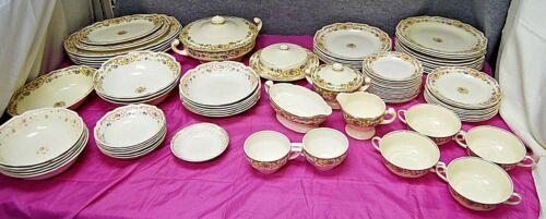 Antique Mount Clemens Mildred 81 Pc Set Plates Bowls Serving Pieces  L2580