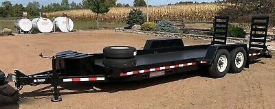 2014 Midsota 20 Flatbed Tandem Axle Constructionskidsteer Trailer W Pan Sides