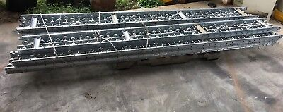 Lot Of 7 Skatewheel Conveyor10ft L12in. W Ashland Conveyor 12x10x10g
