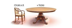 Solid Javanese Teak Dining Table and 8 Teak and Rattan chairs Potts Point Inner Sydney Preview