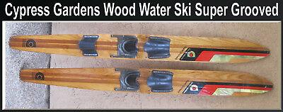 "Cypress Gardens Wood Waterski  66"" Slalom Water Ski  with Binding boots Super"
