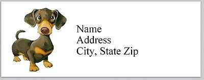 Personalized Address Labels Cute Dog Dachshund Buy 3 Get 1 Free Bx 833