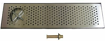 Draft Beer Rinser Drip Tray 30 X 8 W S.s. Grill 4 Metal Drain- Dtw-30ss-r
