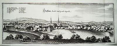 Hessen am Fallstein Aue Sachsen-Anhalt  Merian Kupferstich  Erstausgabe 1654