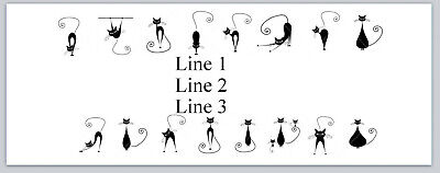 Personalized Address Labels Cat Silhouettes Border Buy 3 Get 1 Free P 710