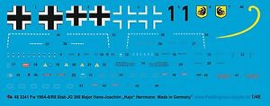 Peddinghaus-1-48-3341-Fw-190-A8-R8-Varilla-JG-300-Major-Hans-Joachim-034-Hajo-034