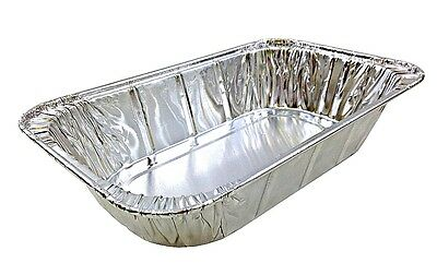 Quarter-Size (1/4) Aluminum Foil Steam Table Pan - Disposable Food Storage -