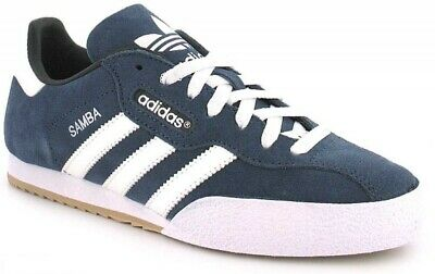 adidas Originals Samba Suede Men's Trainers 019332 - Dark Blue/White -Size UK 8