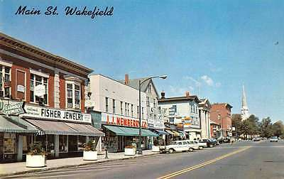For sale Wakefield Massachusetts Main Street Looking North Vintage Postcard J67258