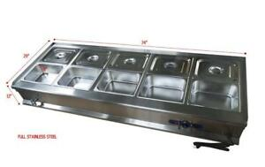 10-Pan Bain-Marie Buffet Food Warmer 190916