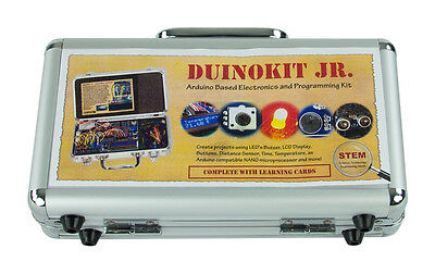 Duino Jr Arduino Based Electronics and Programming Learning Kit with Metal Case