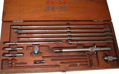 Lufkin Inside .001 Micrometer 8 To 32 Set