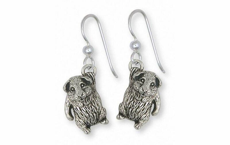Guinea Pig Earrings Jewelry Sterling Silver Handmade Piggie Earrings GP3-E