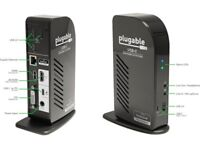 Plugable USB-C Docking Station: 3 HD monitors with Charging (Type-C and Thunderbolt 3)