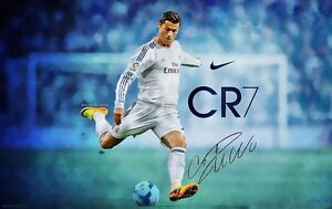 Cristiano Ronaldo Football Soccer Star Fabric poster 36