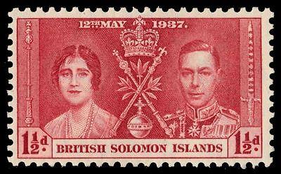 SOLOMON ISLANDS 65 (SG58) - King George VI Coronation (pa37685)