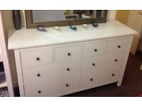 IKEA hemnes chest of 8 drawers - White