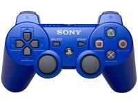 Brand New Sony PS3 wireless Bluetooth controller blue with USB Cable