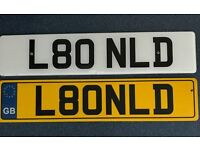 PRIVATE NUMBER PLATE L80 NLD