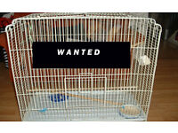 WANTED LARGE BIRD CAGE. Good condition. Willing to pay.
