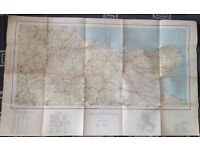 Original WW2 US Army Engineers Map Service, road map of Italy, sheet 18, Foggia .