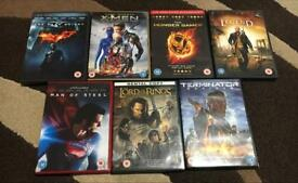 7 DVDs for £15 or £2.50 each