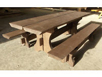 NEW Picnic series wooden table set consist of three seperate parts