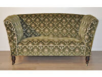 Large Antique Victorian Turned Leg Sofa Couch Settee For Reupholstery