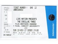 The Cadillac Three - 1 ticket for Cardiff University on 12/11/17