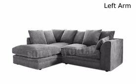 CASH ON DELIVERY **** Byron corner sofas / 3+2 seater set or corner sofa /grey/black or brown
